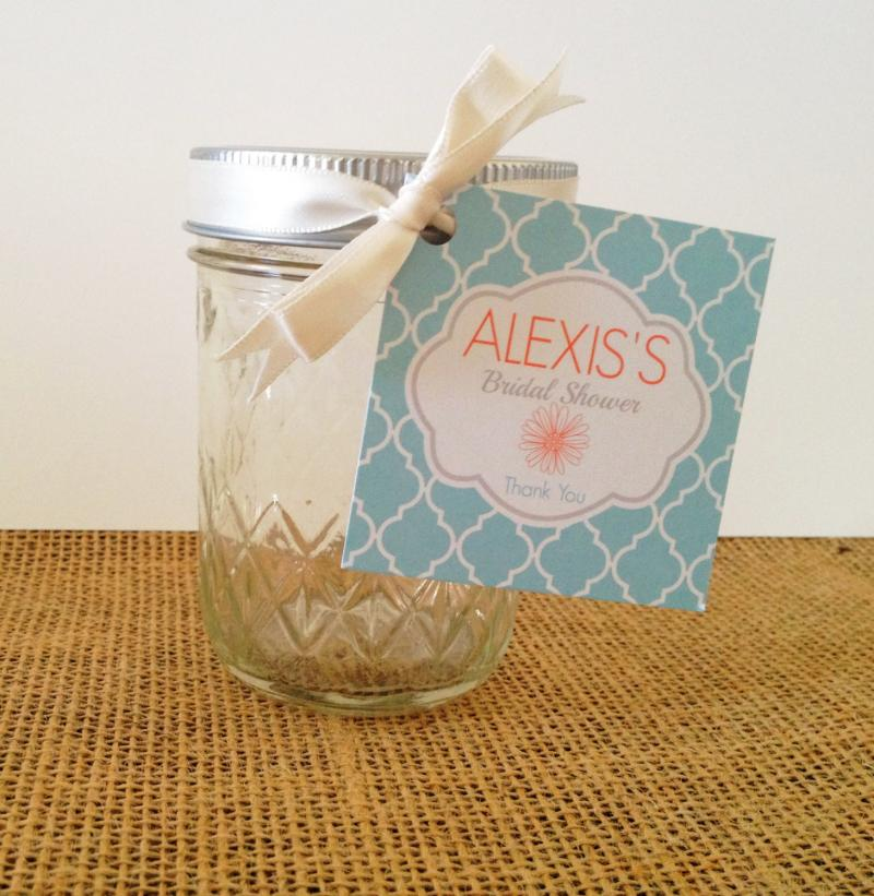 burlap and lace mason jar baby shower favors set of 4