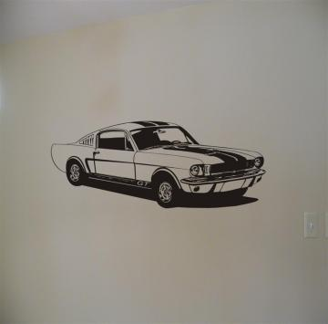 Shelby Mustang Vinyl Wall Graphic Decal