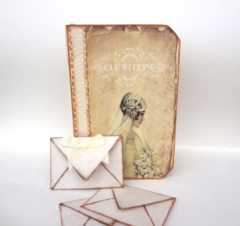 Wedding Planner Gift Book : ... Book, Handmade Wedding Journal, Rustic Wedding Planner, Wedding Gift