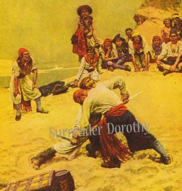 Pirate Captains Battle By Howard Pyle  Lithograph To Frame