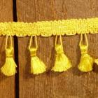 Bright  Canary Yellow Tassel Fringe 2 Yards NOS
