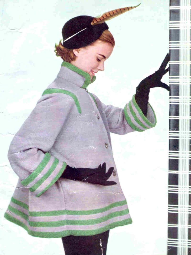 Knitting Pattern Swing Jacket : Click to Enlarge Image