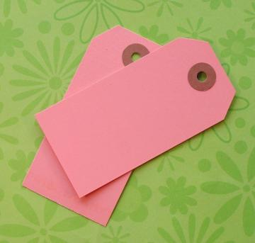 25 pink shipping tag labels / size 3 medium