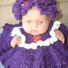 Doll with Purple Crochet Dress