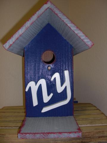 Birdhouse - NY GIANTS by ABCbirdhouses