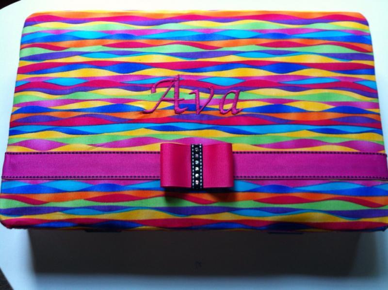 Rainbow Loom large travel case kit storage box organizer padded top