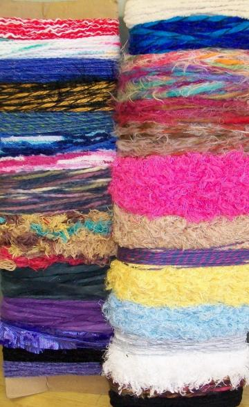 28 Fancy Yarns 2 yards each SCRAPBOOKING Cardmaking 60 Yards