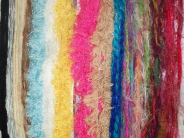 14 Fancy Yarns over 2 yards each SCRAPBOOKING