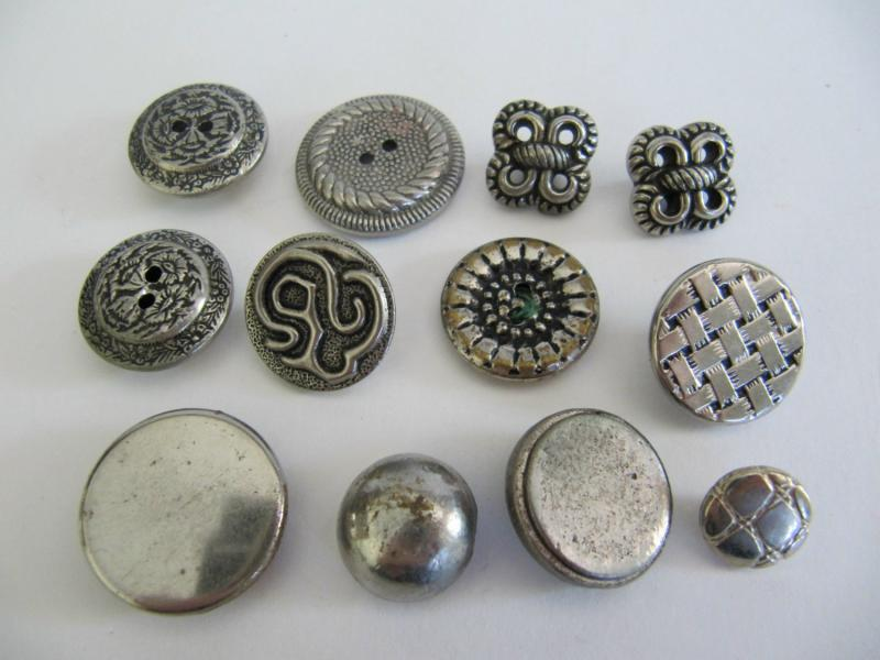 Vintage Silver Buttons 55