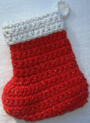 Crochet Small Xmas Stocking Only New Crochet Patterns