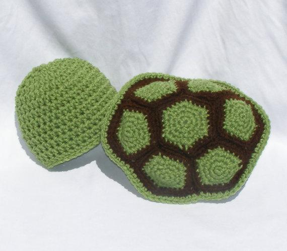 Crochet Turtle Shell and Cap Set