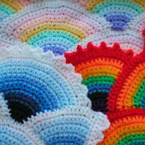 Rainbow Ripple Baby Afghan Pattern Sewing Patterns For Baby