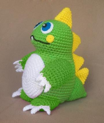 Dinosaur Amigurumi Tutorial | Free Crochet Pattern | Open Mouth ... | 428x360