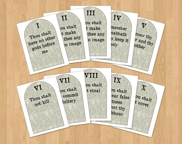 photo relating to 10 Commandments Kjv Printable called Printable 10 Commandment Products Comparable Key phrases